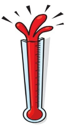 Thermometer Bursting Clipart.