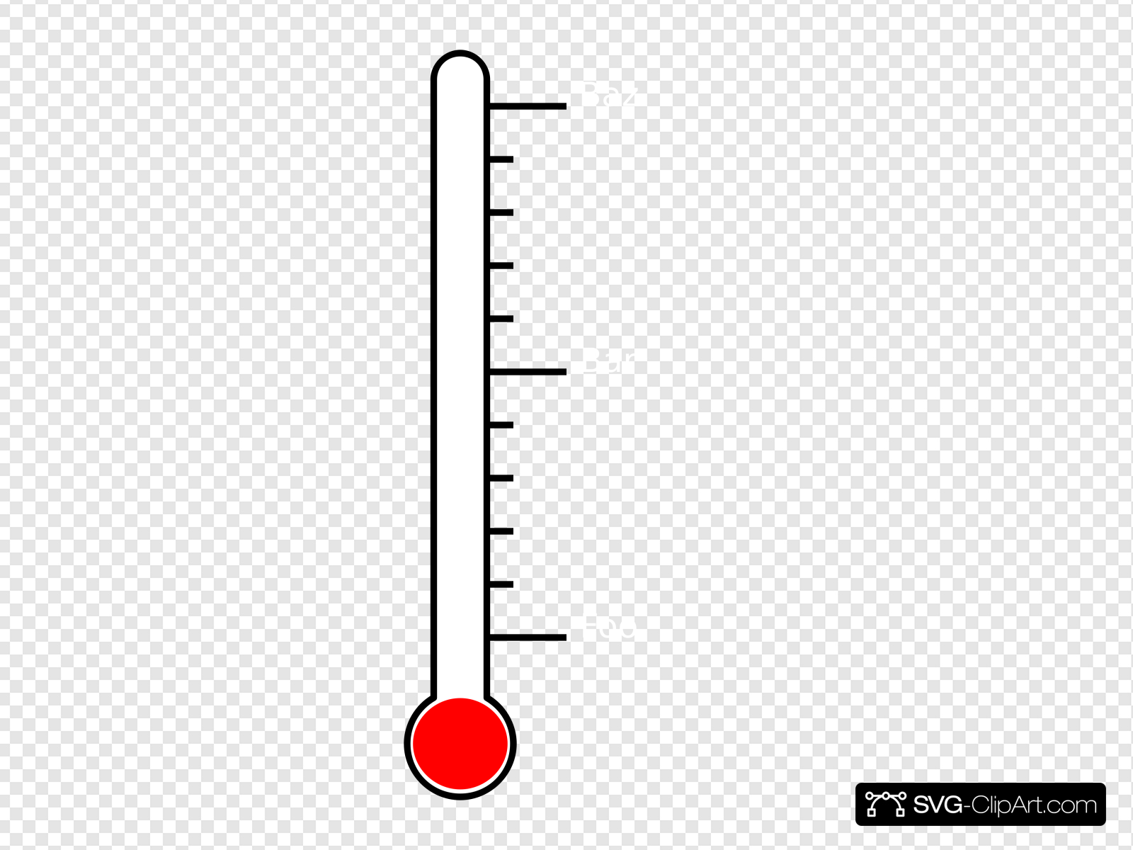 Blank Thermometer Clip art, Icon and SVG.