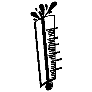Thermometer Black And White.