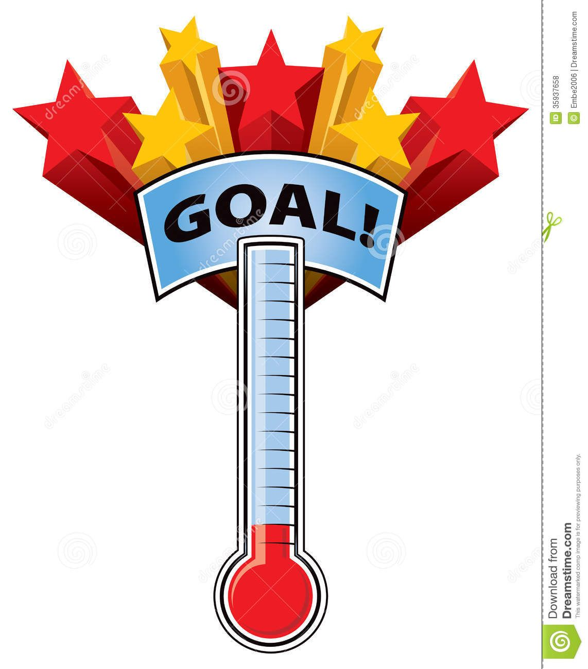 fundraising goal charts for cheerleading.