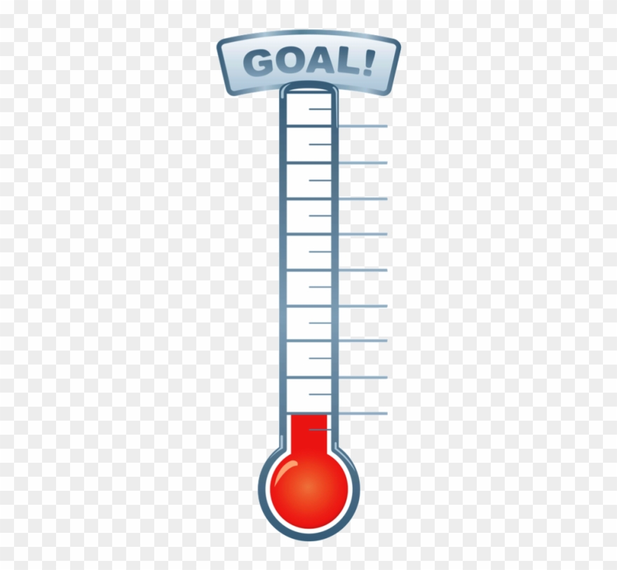 Pin Fundraising Thermometer Clip Art.