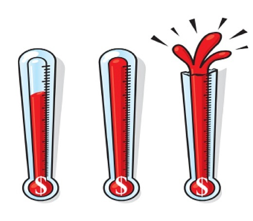 Fundraising Thermometer Clip Art.