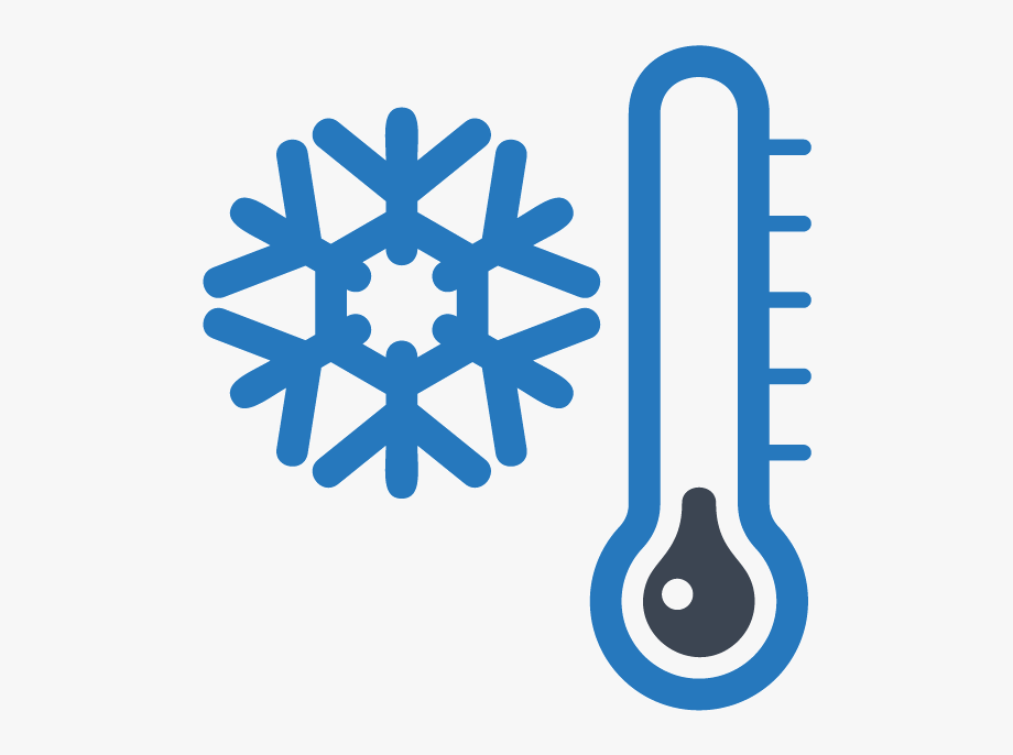 Winter, Snowflake And Thermometer, Clip Art Printable.
