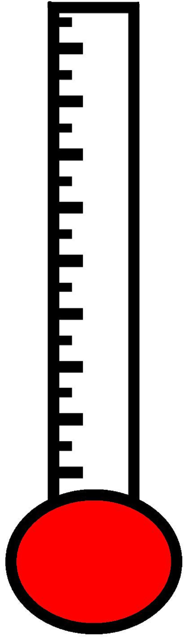 Blank Thermometer Clipart.