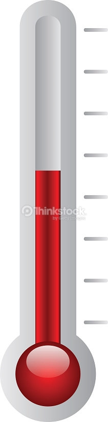 Thermometer Illustration With Red Measure Vector Art.