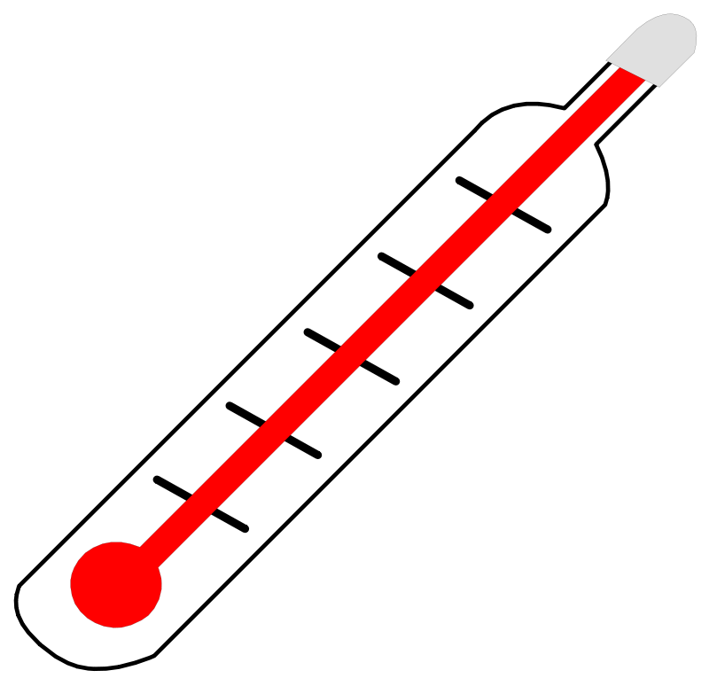 Free Clipart: Thermometer Hot.