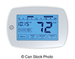 Thermostat Stock Illustrations. 2,589 Thermostat clip art images.