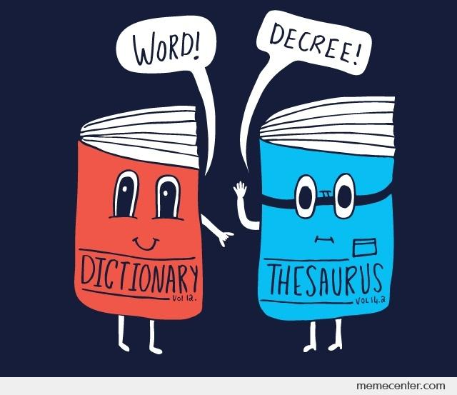 Dictionary And Thesaurus Clipart.