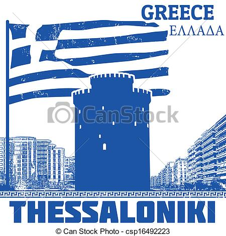 Vector Illustration of Thessaloniki, Greece poster.
