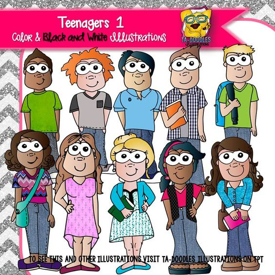 Teenager 1 Clipart.