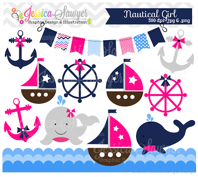 NEW! Boys and Girls Nautical Clipart.