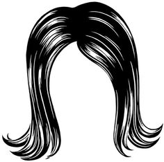 Wig Clipart Black And White.