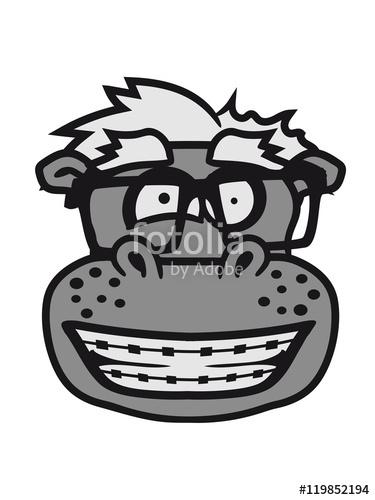 head, face, nerd geek smart hornbrille freak stupid braces hippo.