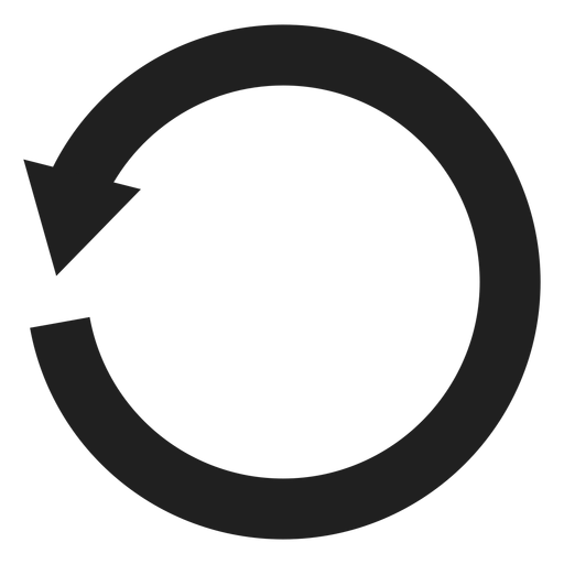 One thick arrow circle.