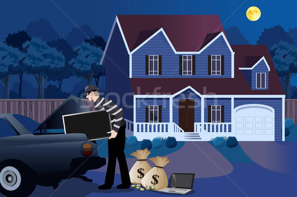 Burglar house Stock Vectors, Illustrations and Cliparts.