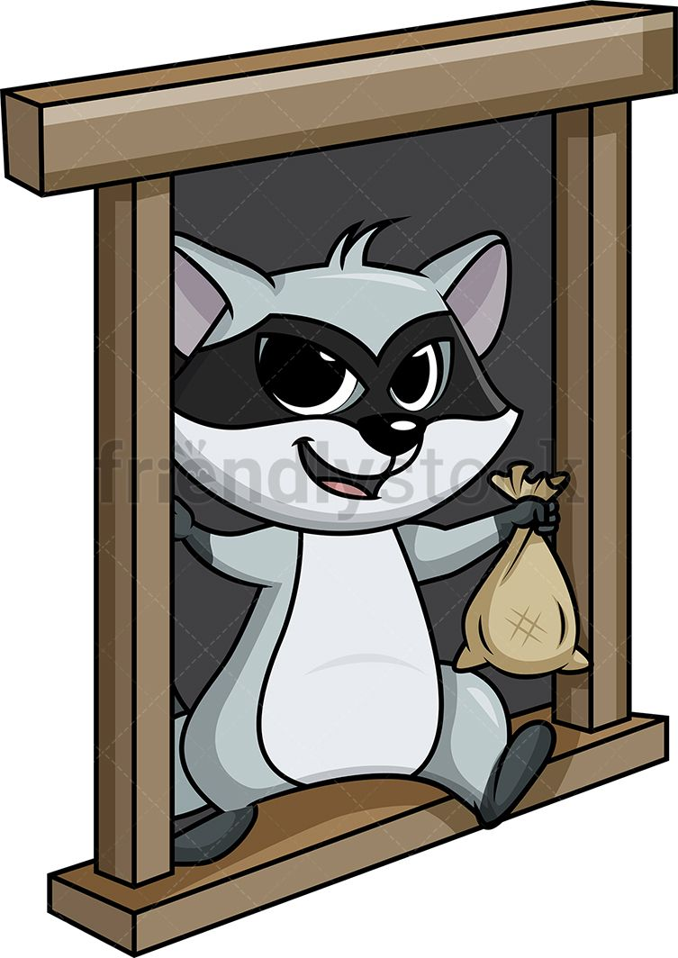 Raccoon Thief Escaping From A Window in 2019.