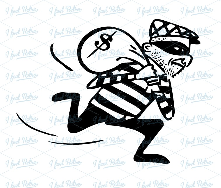 Thief Clipart Black And White.