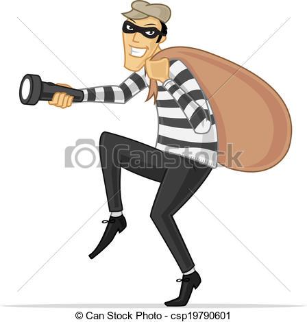 Cartoon thief clipart.