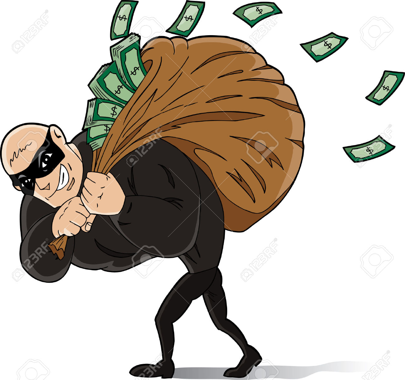 Indian Thief Clipart.