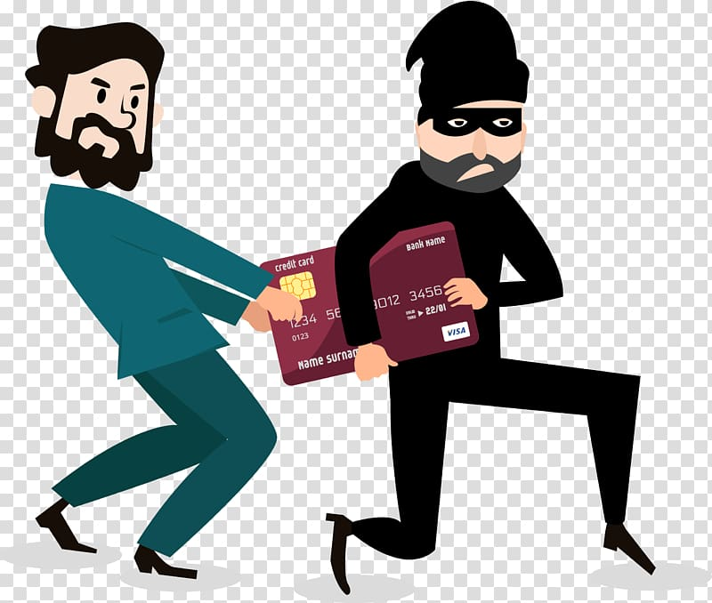 Cartoon Robbery Graphic design, Thieves rob the bank card.