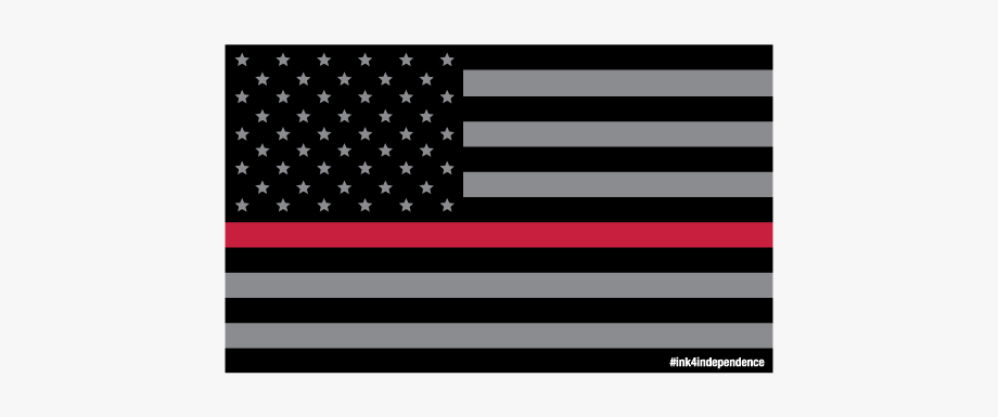 Flags Clipart Thin Red Line.
