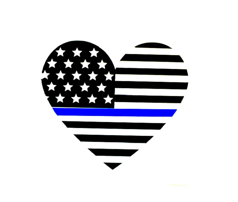 Amazon.com: Thin blue line flag decal, police flag, police.