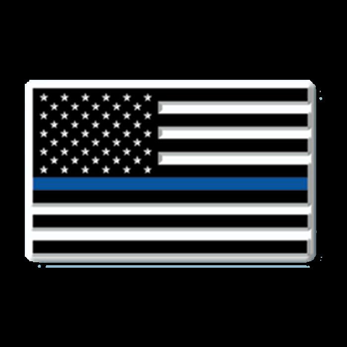 U.S. Thin Blue Line Flag Magnet.