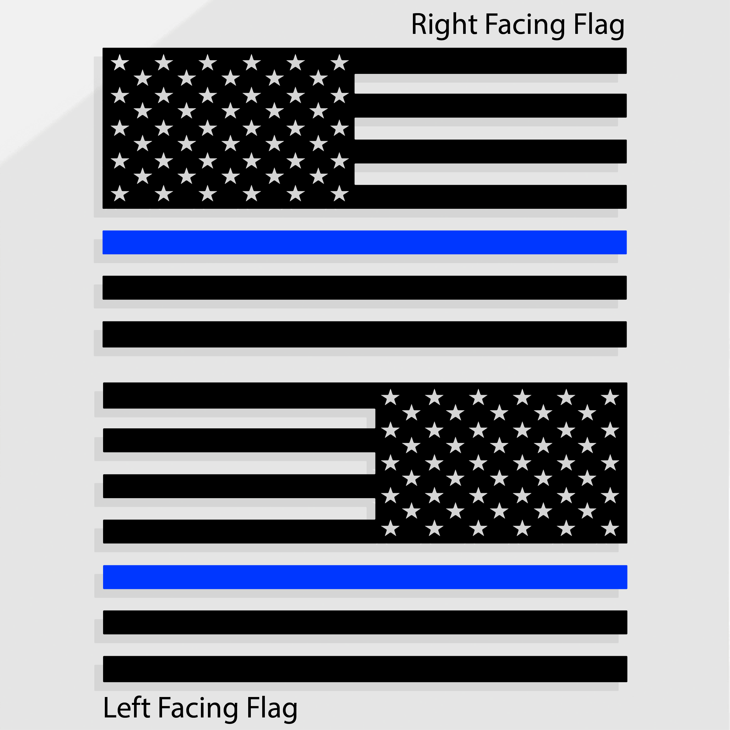THIN BLUE LINE AMERICAN FLAG DECALS.