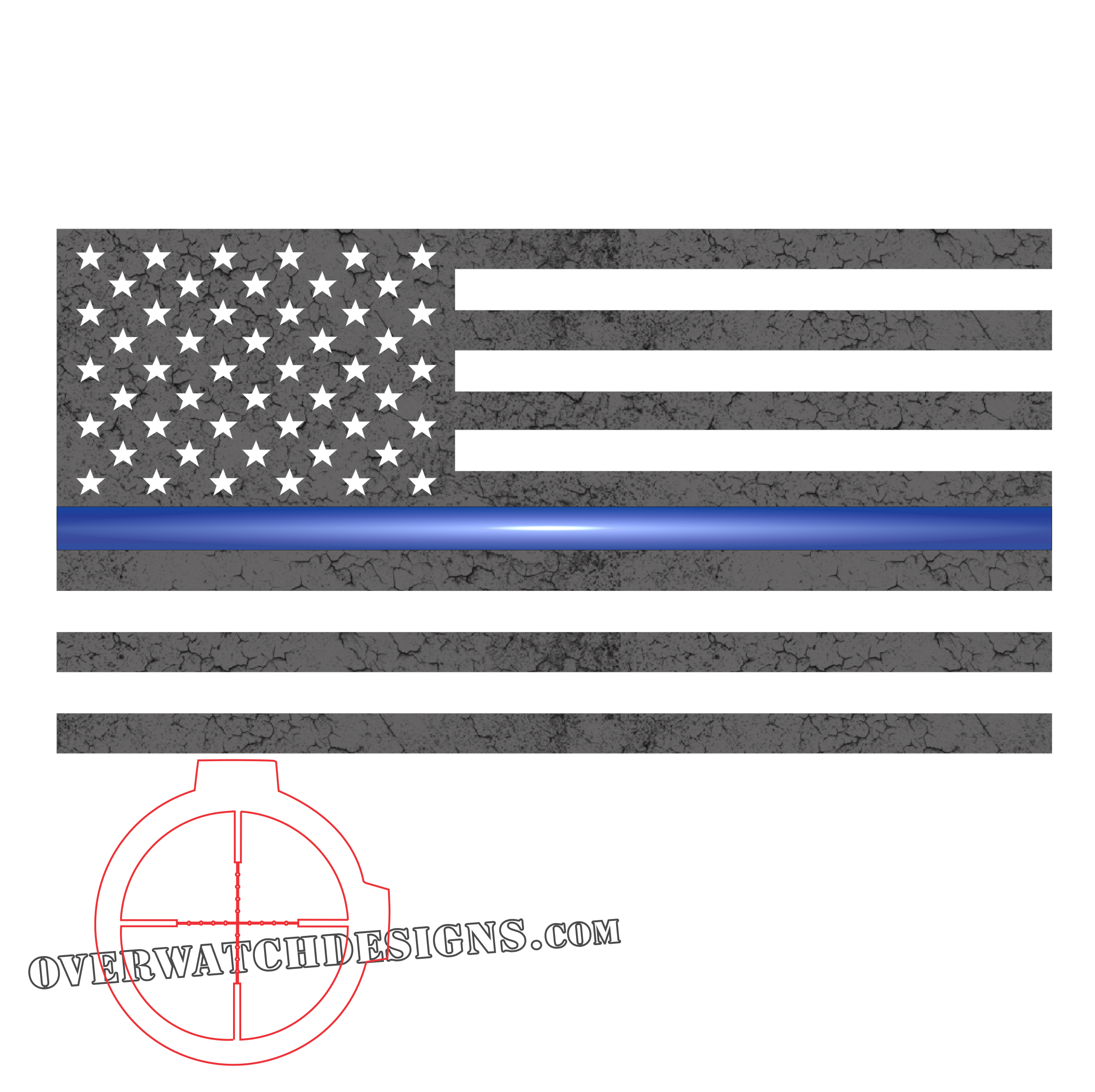 Thin Blue Line Subdued Flag.