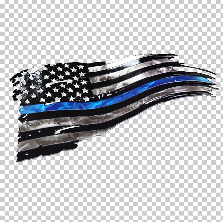 West Texas Plasma Thin Blue Line Flag Of The United States.