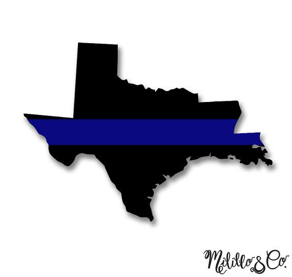 Thin Blue Line Police Texas and Louisiana Car by.