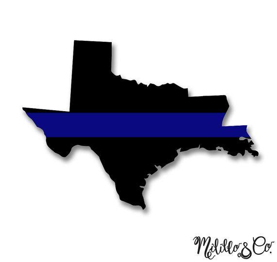 Thin Blue Line Police Texas and Louisiana Car by.