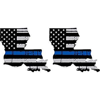 Bermuda Shorts Graphics Thin Blue Line Louisiana/Pair / 5\