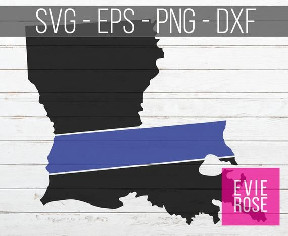 Louisiana Thin Blue Line SVG, DXF, eps, and png Cut Files.
