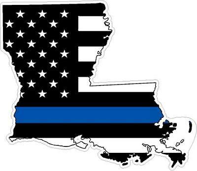 THIN BLUE LINE LOUISIANA Flag / PAIR / 5\