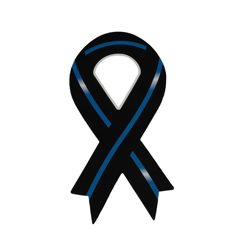 Thin Blue Line Ribbon Magnet.