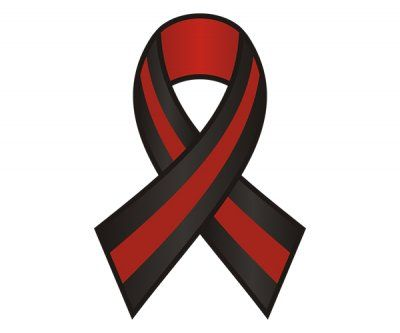 Thin Red Line Ribbon Firefighter Sticker Decal v2.