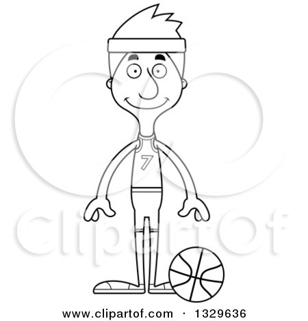 Tall Clipart Black And White.