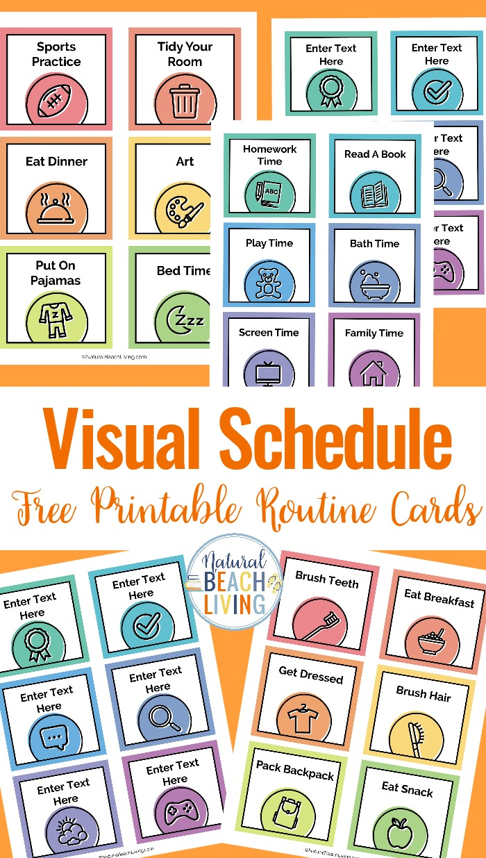 printable daily schedule kids.