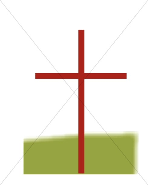 Red Thin Cross with Green.