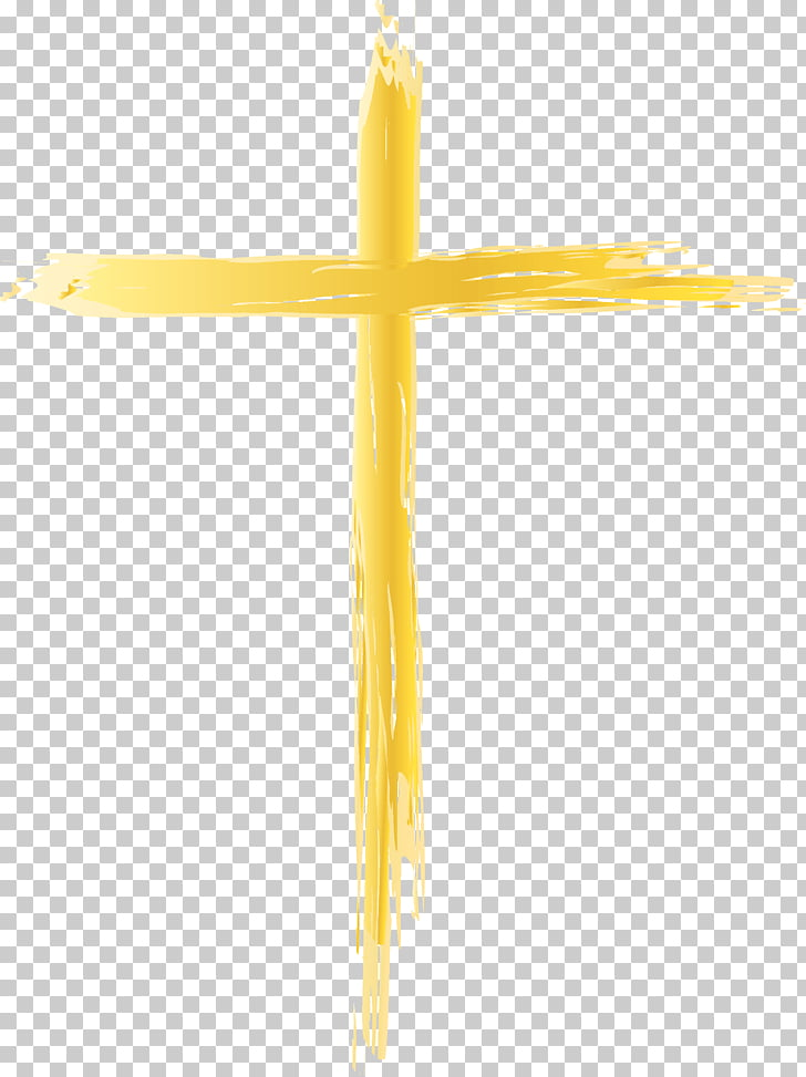Crucifix Yellow, Thin Cross s PNG clipart.