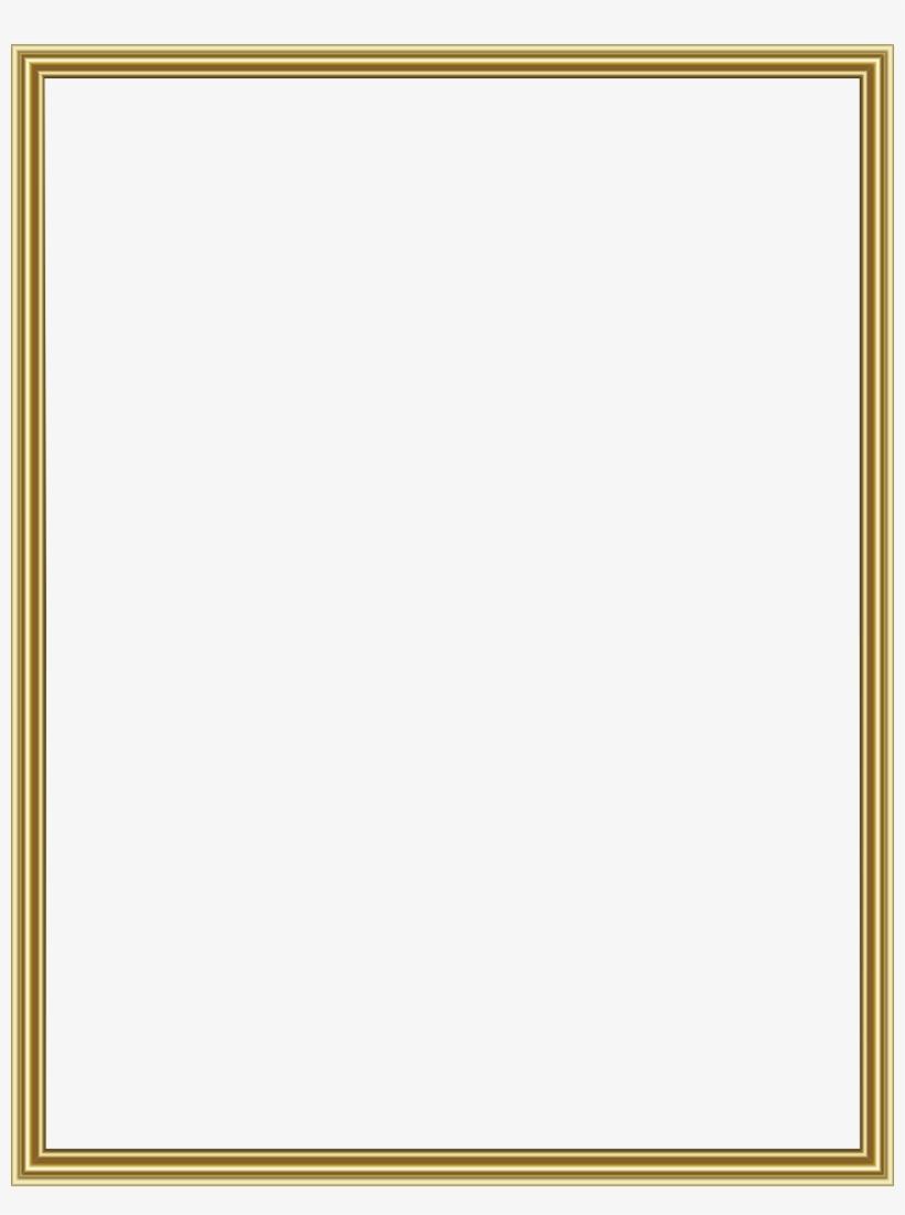 Thin Gold Frame Transparent Border.