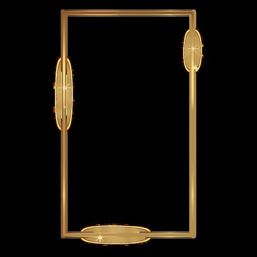 Thin rectangle golden frame.