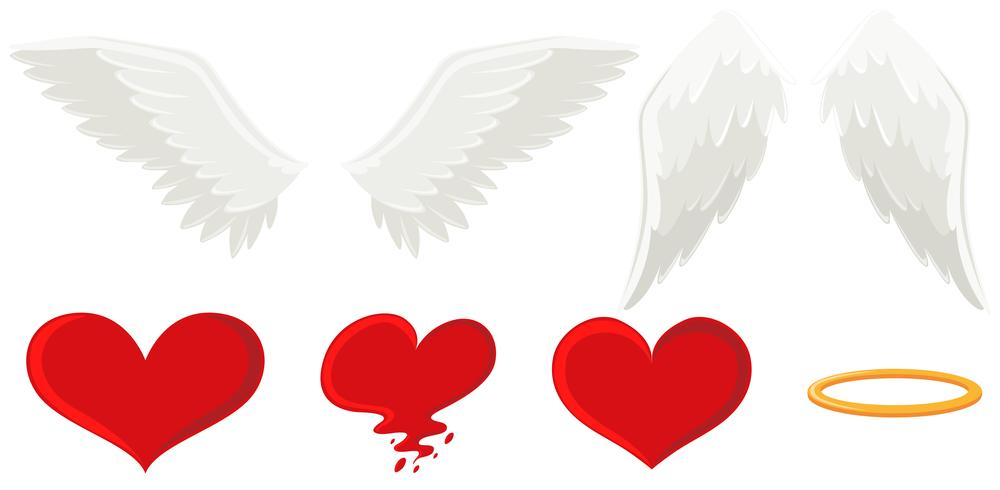 Angel wings and heart.