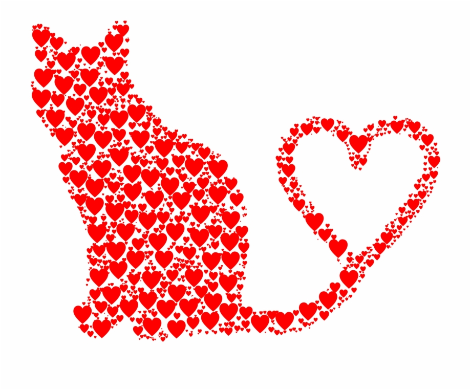 Heart Silhouette Color Clip art.