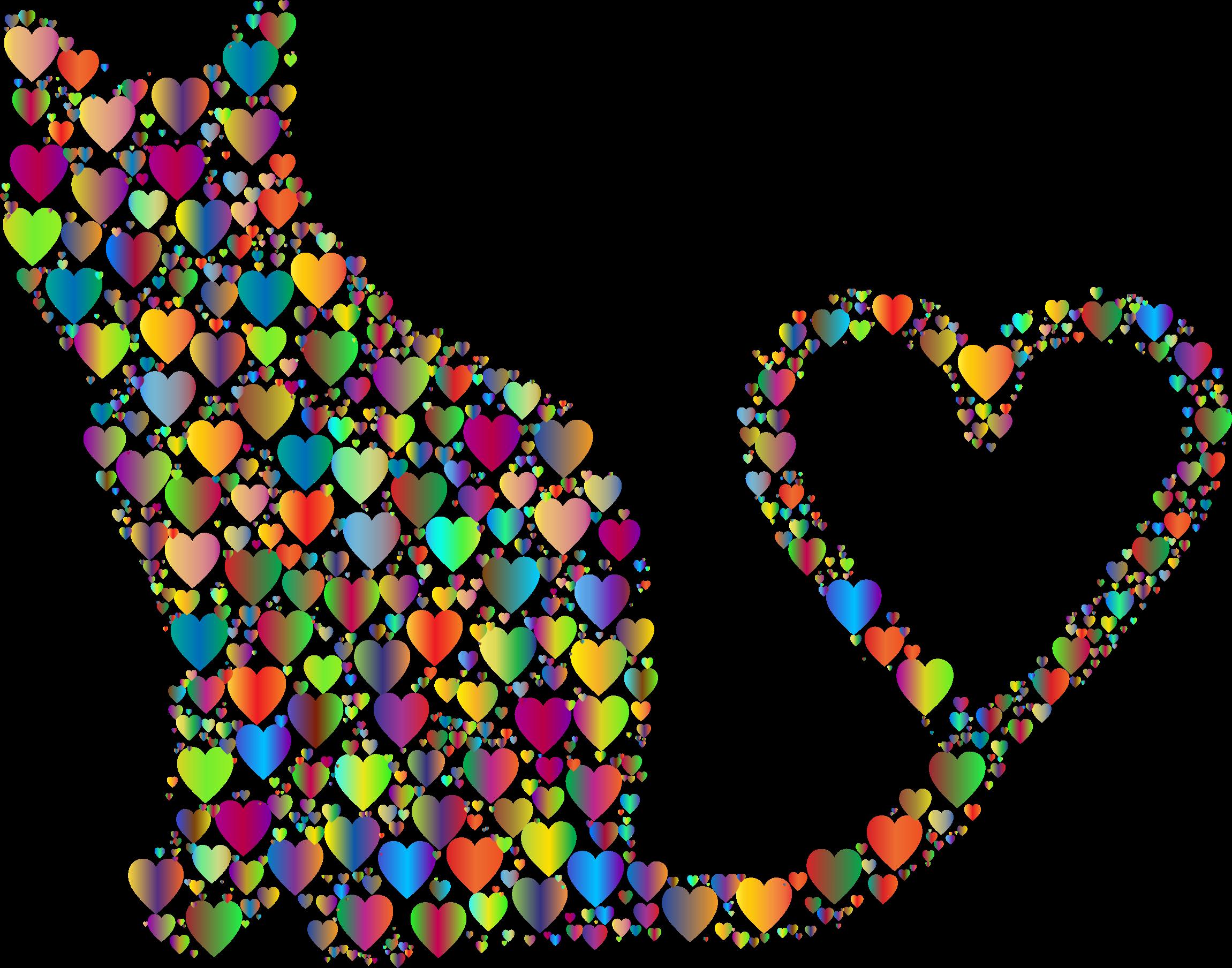 Cat Heart Tail Clip art.