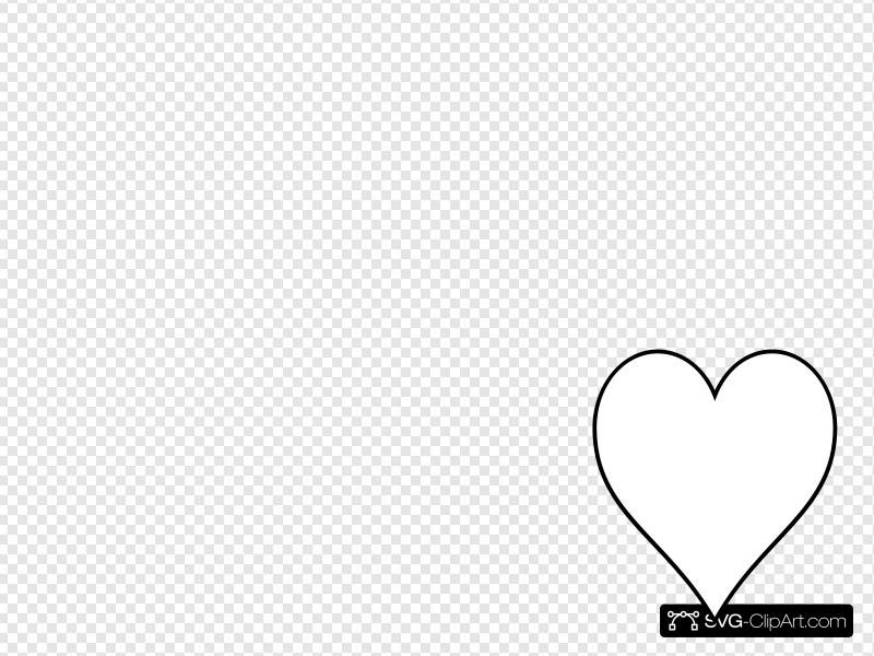 Free Heart SVG Clipart and PNG icon.