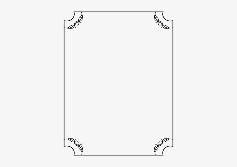 Thin Line Border With Decorative Corners Clipart.