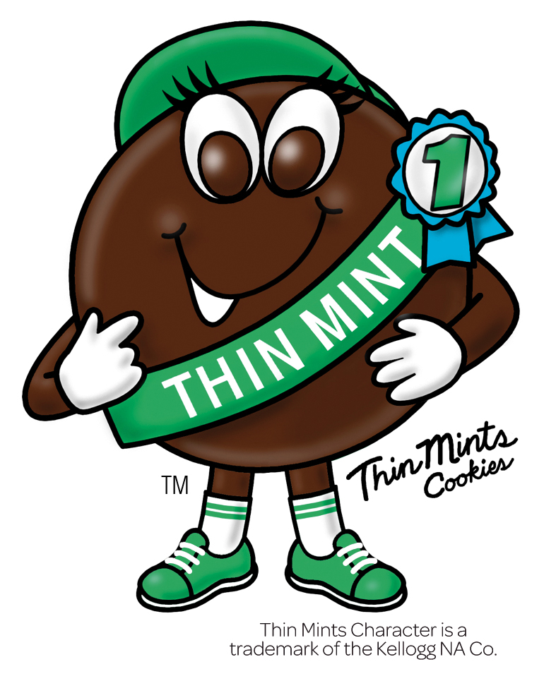 Thin mint character clipart.