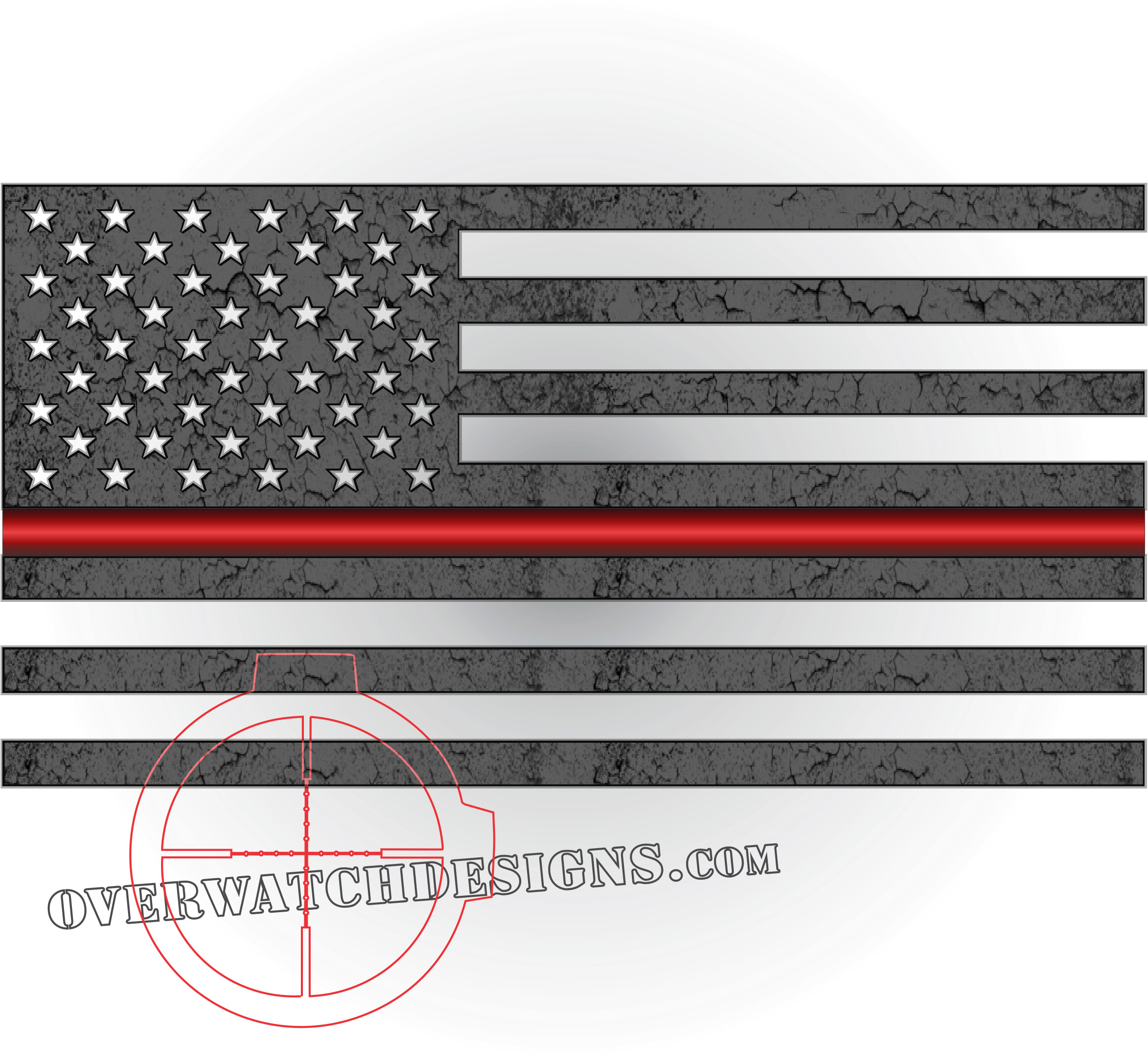 Thin Red Line Subdued Flag.